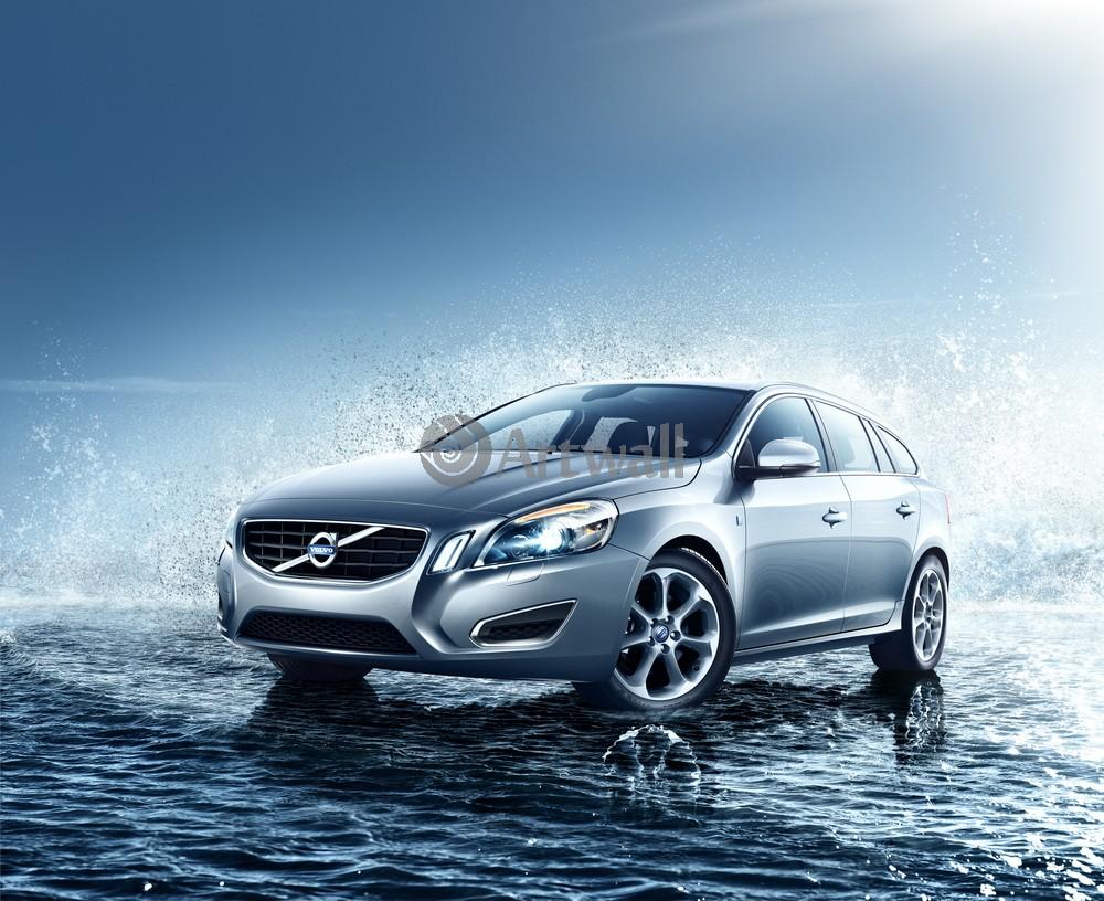 "Постер ""Volvo V60"", 25x20 см, на бумаге от Artwall"