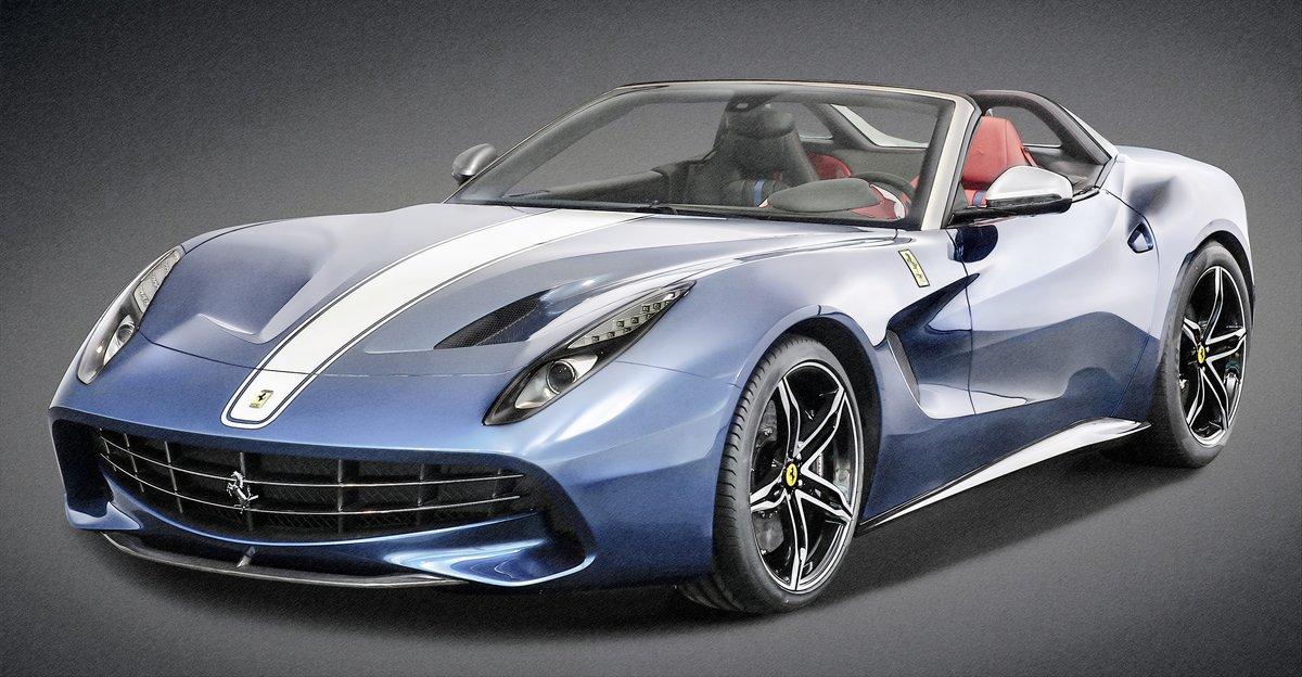 """Постер """"Ferrari F60America (2015)"""", 38x20 см, на бумаге от Artwall"""