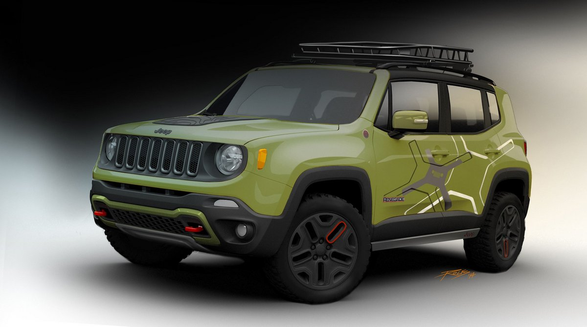 "Постер ""Jeep Renegade (2015)"", 36x20 см, на бумаге от Artwall"