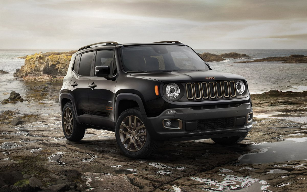 "Постер ""Jeep Renegade (2015)"", 32x20 см, на бумаге от Artwall"