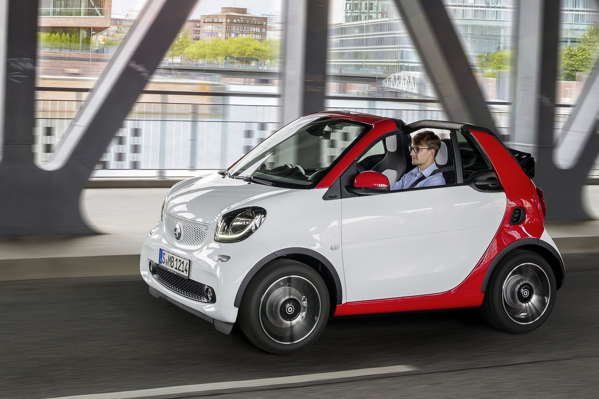 "Постер ""Smart For Two Cabrio (2015)"", 30x20 см, на бумаге от Artwall"