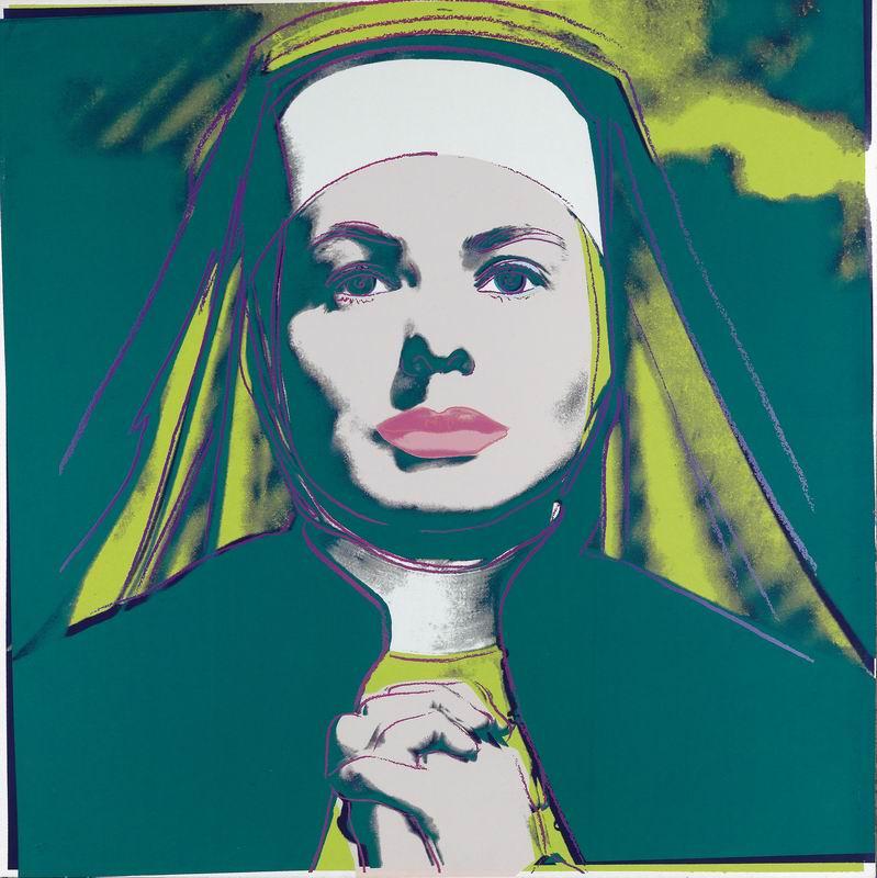 "Художники, картина ""Ингрид Бергман в роли монахини"", 20x20 см, на бумаге от Artwall"