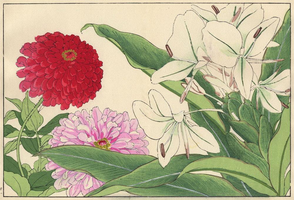 """Искусство, картина """"Танигами Конан «Циния и имбирь»"""", 29x20 см, на бумаге от Artwall"""