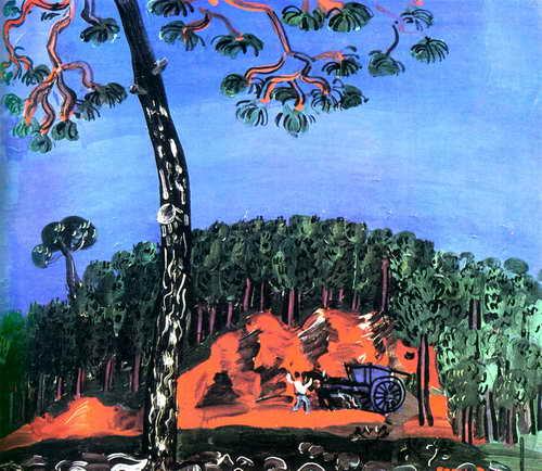 """Художники, картина """"Пейзаж в Эстереле"""", 23x20 см, на бумаге от Artwall"""