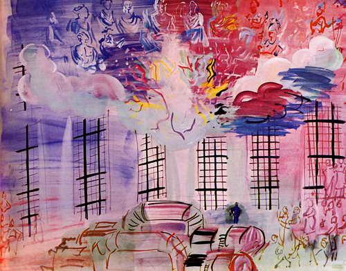 """Художники, картина """"Электричество"""", 26x20 см, на бумаге от Artwall"""
