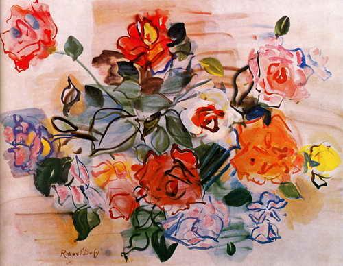 "Художники, картина ""Букет роз"", 26x20 см, на бумаге от Artwall"