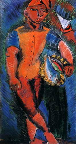 """Художники, картина """"Неаполитанский рыбак"""", 20x38 см, на бумаге от Artwall"""