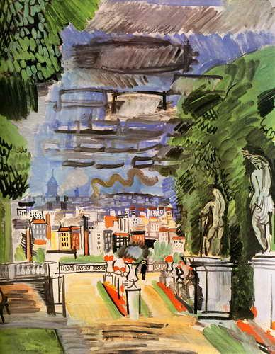 """Художники, картина """"Парк в Сен-Клу"""", 20x26 см, на бумаге от Artwall"""