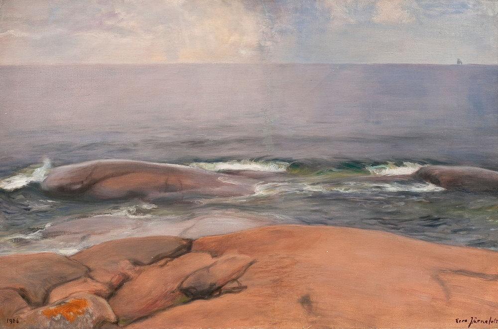 """Пейзажи """"Ярнефельт. Вид с побережья Порккалы"""", 30x20 см, на бумаге от Artwall"""