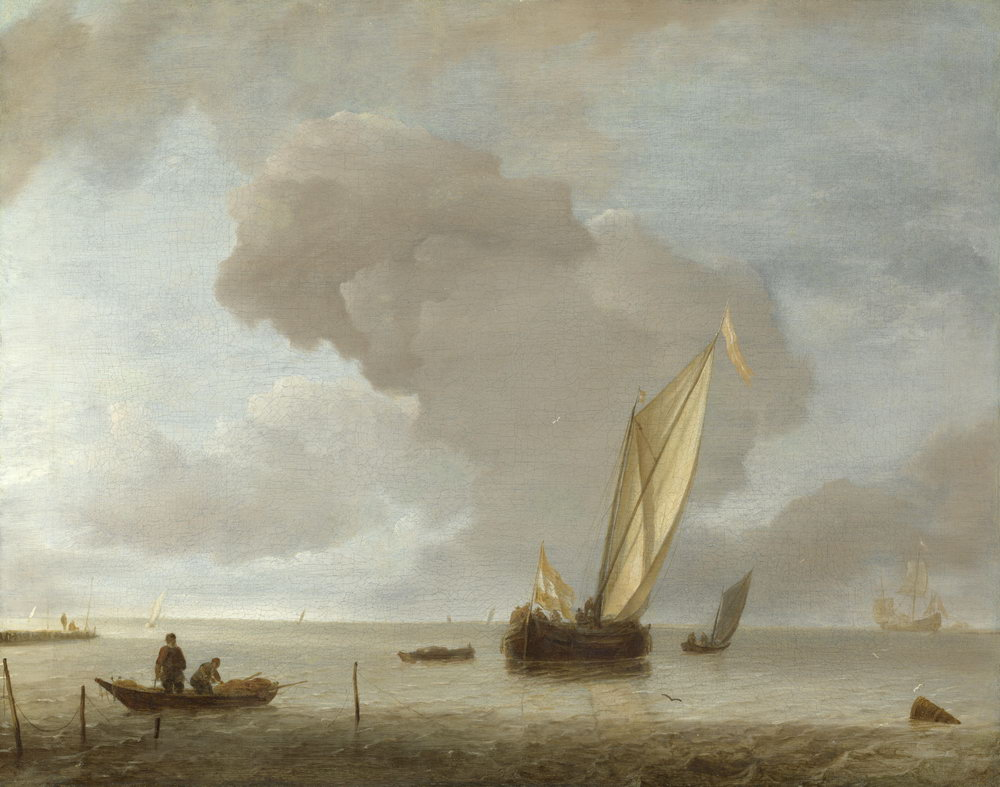 """Пейзажи """"Капелле. Маленький голландский парусник перед легким бризом"""", 25x20 см, на бумаге от Artwall"""