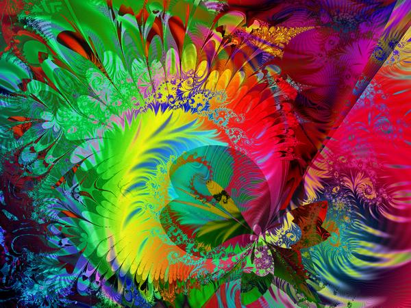 """Искусство, картина """"Фрактал"""", 27x20 см, на бумаге от Artwall"""