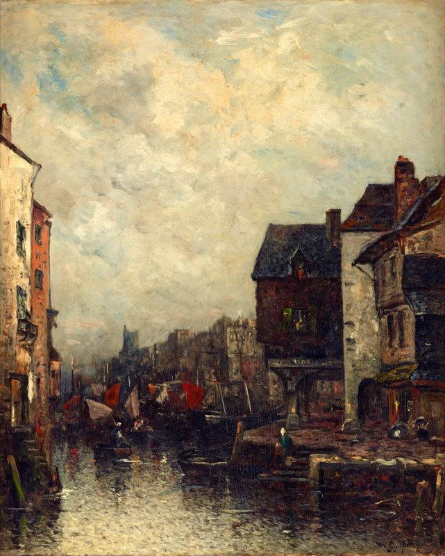 """Пейзажи """"Гегерфельд Вильгельм, Голландский канал"""", 20x25 см, на бумаге от Artwall"""