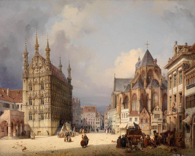 """Пейзажи """"Фердинанд Георг Вальдмюллер"""", 25x20 см, на бумаге от Artwall"""