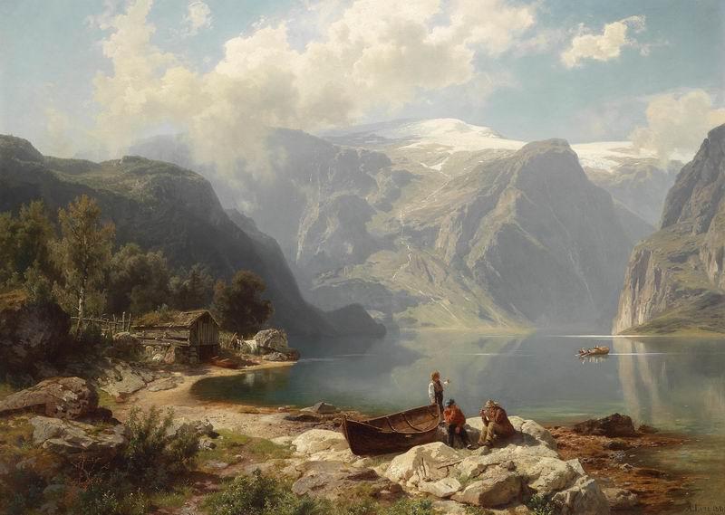 """Пейзажи """"Август Леу"""", 28x20 см, на бумаге от Artwall"""