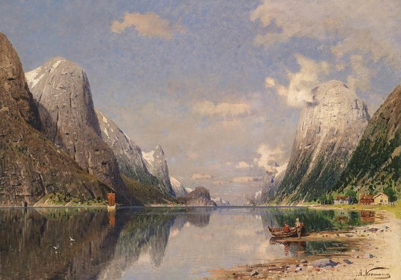 "Пейзажи ""Адельстин Норман"", 29x20 см, на бумаге от Artwall"