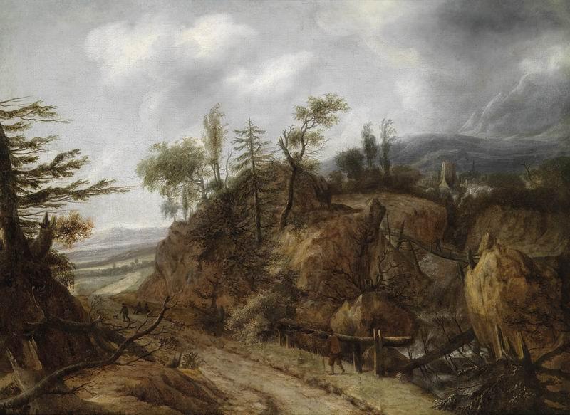 """Пейзажи """"Аларт Ван Ебердинген"""", 27x20 см, на бумаге от Artwall"""