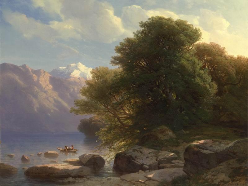 """Пейзажи """"Александ Галаме"""", 27x20 см, на бумаге от Artwall"""