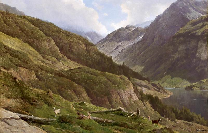 "Пейзажи ""Антон Хлвачек"", 31x20 см, на бумаге от Artwall"