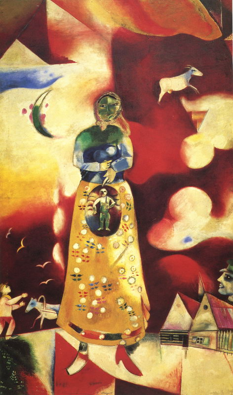 """Художники, картина """"Материнство (арт. N_2740)"""", 20x34 см, на бумаге от Artwall"""
