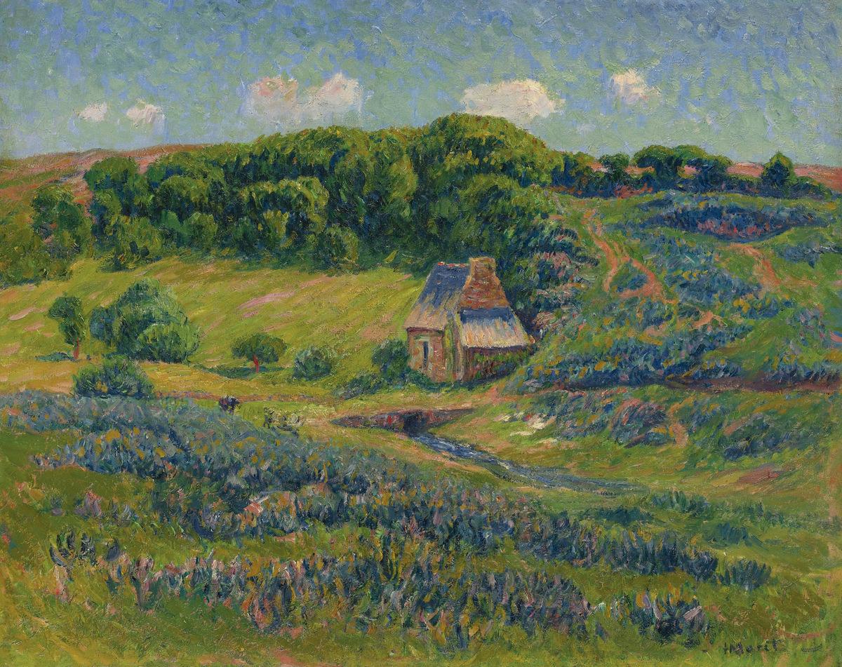 Модульная картина «Ферма в Бретани» на холсте и деревянном подрамнике