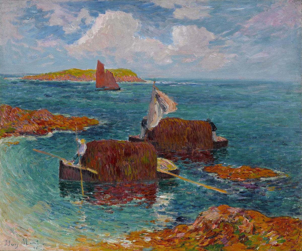 Купить репродукцию картину Море Анри «Шлюпки с водорослями а Регене»