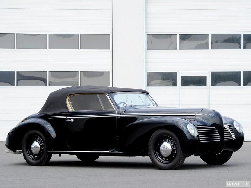 """Постер """"Alfa Romeo 1900 C52 Disco Volante Spider (1359) '1952 дизайн Touring"""", 27x20 см, на бумаге от Artwall"""