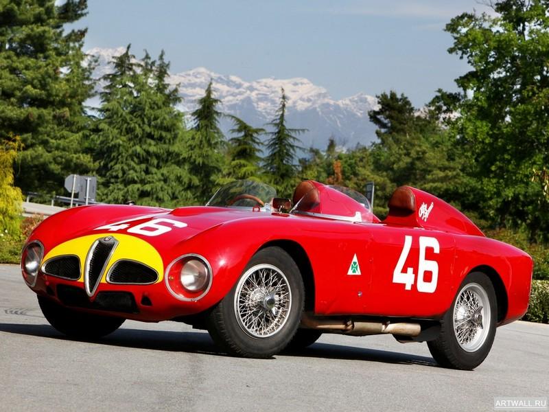 "Постер ""Alfa Romeo 1900 SSZ '1954-58 дизайн Zagato"", 27x20 см, на бумаге от Artwall"