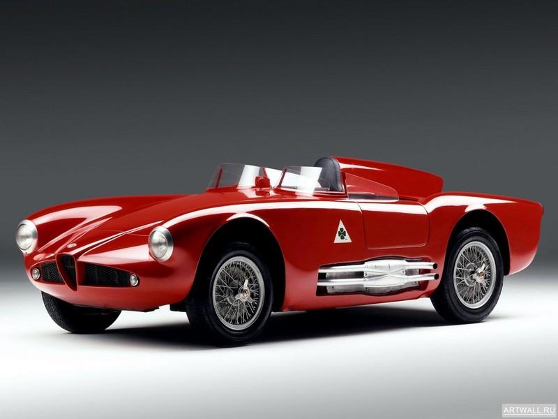 """Постер """"Alfa Romeo 2000 Sprint (102) '1960-62 дизайн Bertone"""", 27x20 см, на бумаге от Artwall"""
