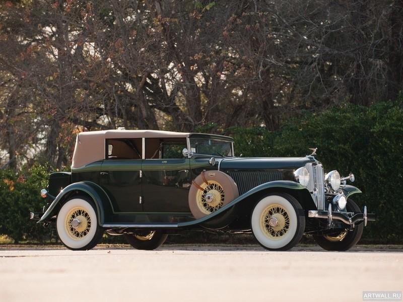 "Постер ""Auburn 8-105 Convertible Sedan '1933"", 27x20 см, на бумаге от Artwall"