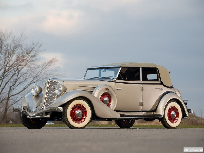 "Постер ""Auburn 850 Y Custom Phaeton '1934"", 27x20 см, на бумаге от Artwall"