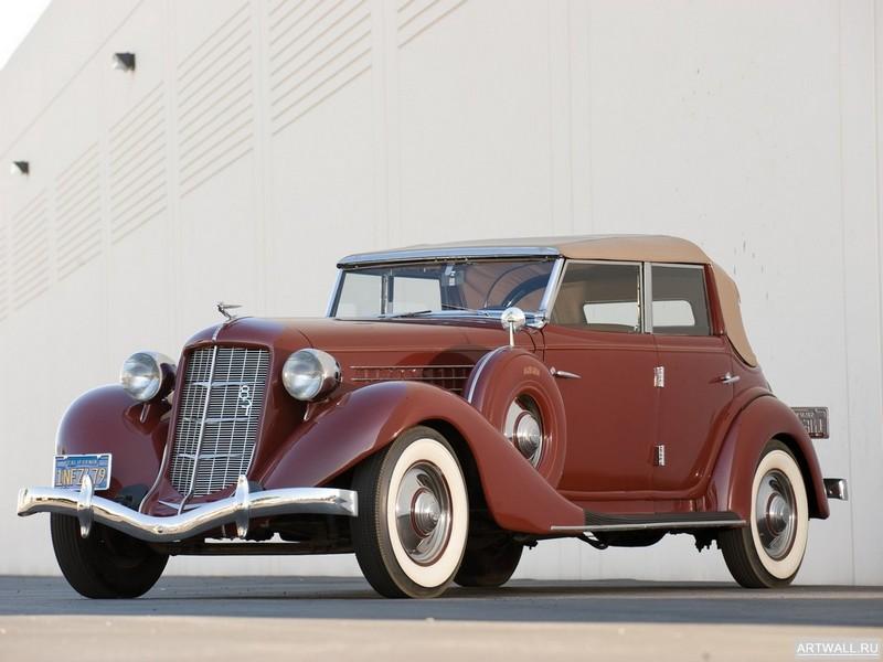 "Постер ""Auburn 851 Salon Phaeton Sedan '1935"", 27x20 см, на бумаге от Artwall"