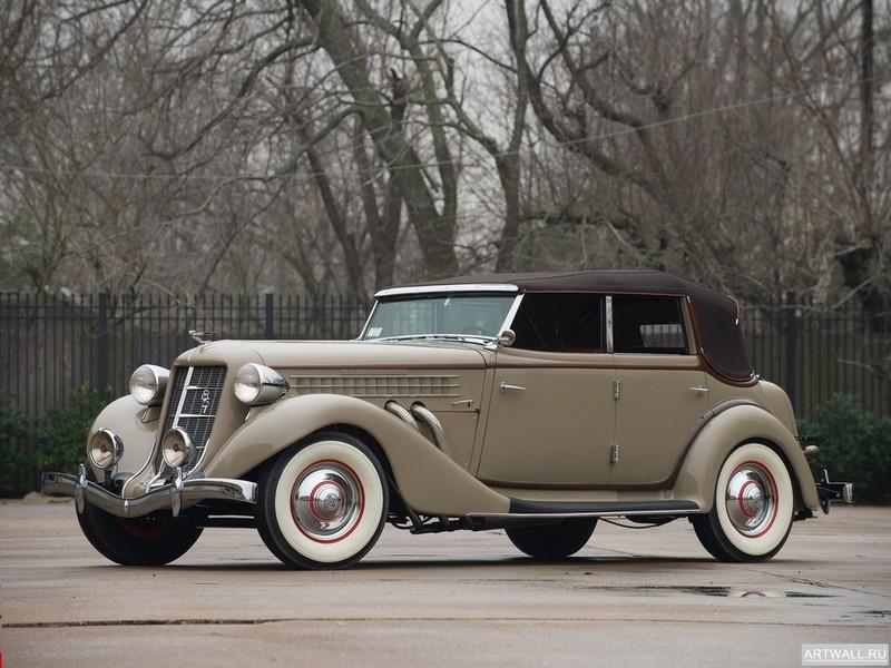 "Постер ""Auburn 851 SC Convertible Sedan '1935"", 27x20 см, на бумаге от Artwall"