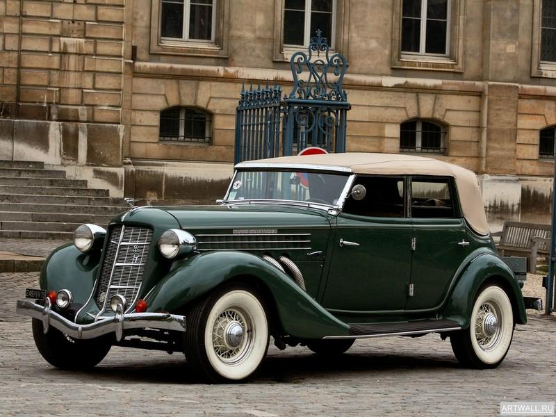"Постер ""Auburn 851 Supercharged Phaeton '1935"", 27x20 см, на бумаге от Artwall"