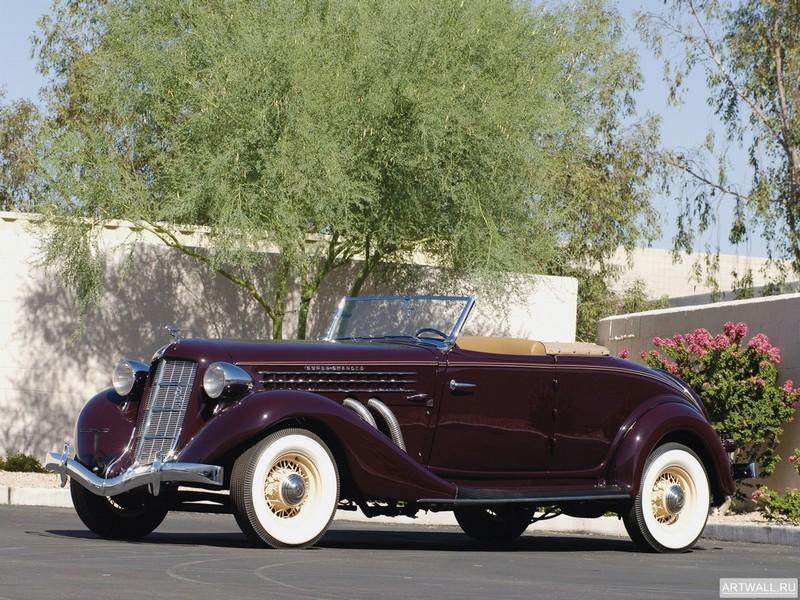 "Постер ""Auburn 852 SC Convertible Coupe '1936"", 27x20 см, на бумаге от Artwall"