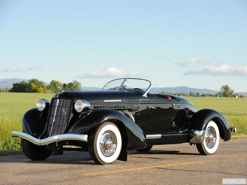"""Постер """"Auburn 852 SC Speedster '1936-37"""", 27x20 см, на бумаге от Artwall"""