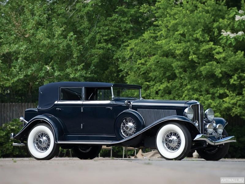 "Постер ""Auburn R-Type Drophead Coupe '1933"", 27x20 см, на бумаге от Artwall"