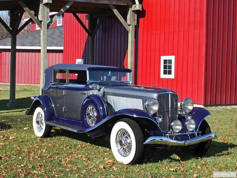 "Постер ""Auburn Twelve Phaeton Sedan (12-165) '1933-34"", 27x20 см, на бумаге от Artwall"