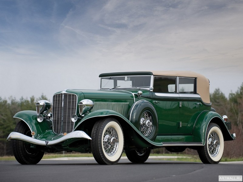 "Постер ""Auburn Twelve Phaeton Sedan (1250) '1934"", 27x20 см, на бумаге от Artwall"