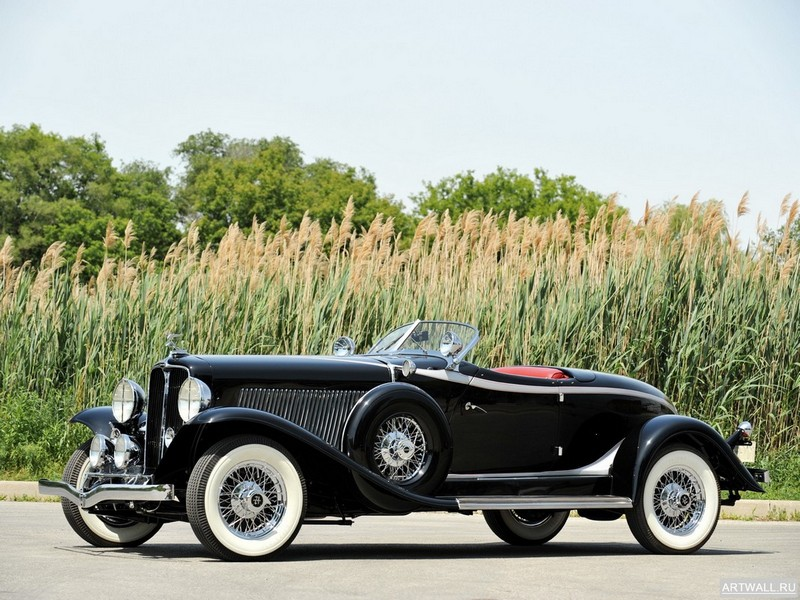 "Постер ""Auburn V12 160A Speedster '1932"", 27x20 см, на бумаге от Artwall"