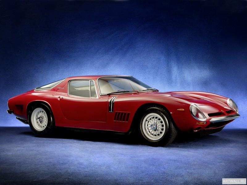 "Постер ""Bizzarrini 5300 GT Strada '1965-68 дизайн Bertone"", 27x20 см, на бумаге от Artwall"