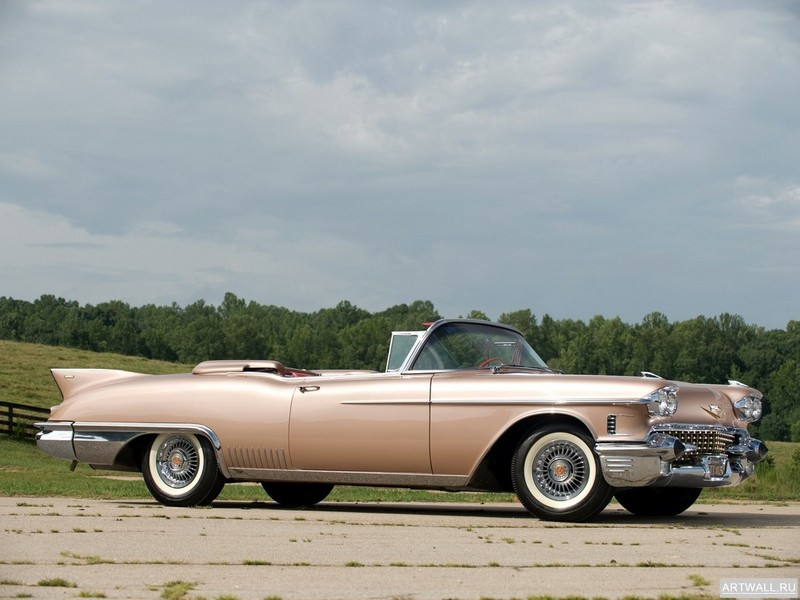 """Постер """"Cadillac Eldorado Biarritz '1958"""", 27x20 см, на бумаге от Artwall"""