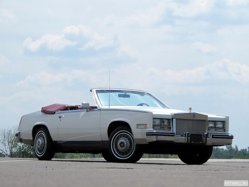 """Постер """"Cadillac Eldorado Biarritz Convertible '1984-85"""", 27x20 см, на бумаге от Artwall"""