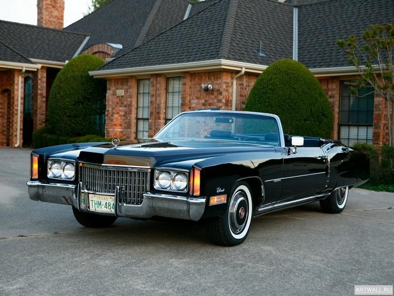 """Постер """"Cadillac Eldorado Convertible '1972"""", 27x20 см, на бумаге от Artwall"""