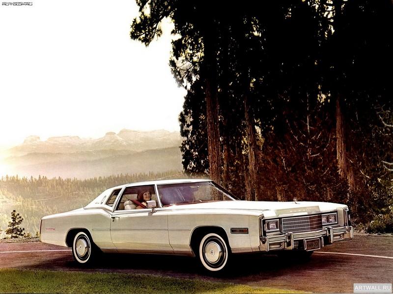 """Постер """"Cadillac Eldorado Coupe '1977"""", 27x20 см, на бумаге от Artwall"""