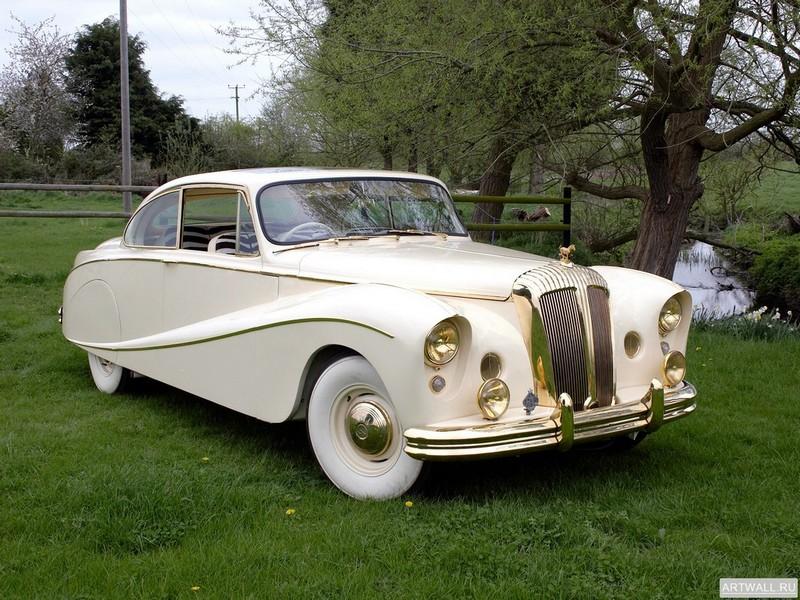 """Постер """"Daimler DK400 Coupe Golden Zebra by Hooper '1955"""", 27x20 см, на бумаге от Artwall"""