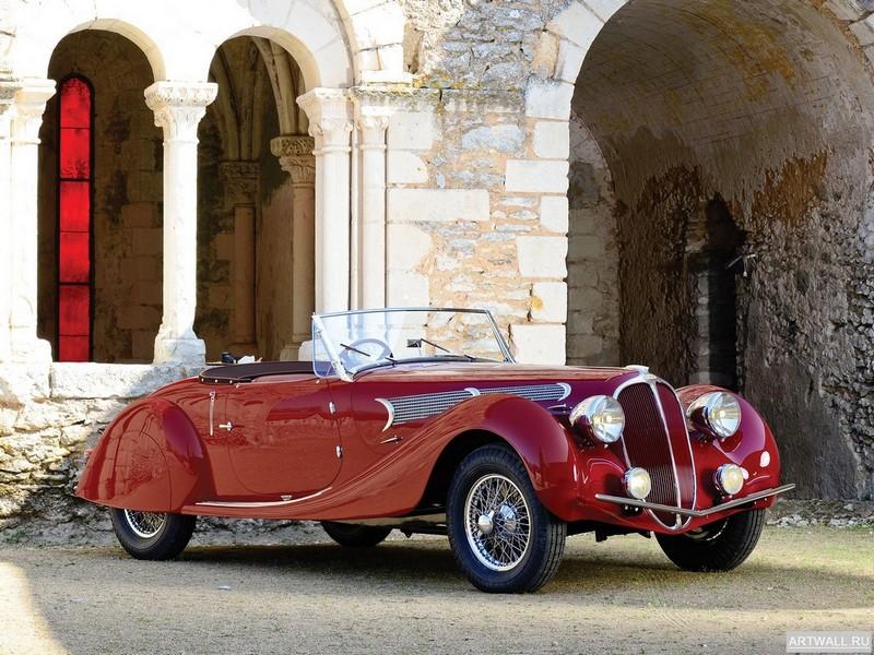 "Постер ""Delahaye 135 M Cabriolet by Langenthal '1938"", 27x20 см, на бумаге от Artwall"