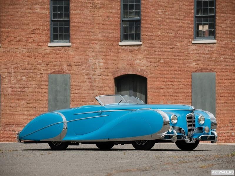 "Постер ""Delahaye 135 MS Cabriolet by Figoni & Falaschi '1938"", 27x20 см, на бумаге от Artwall"
