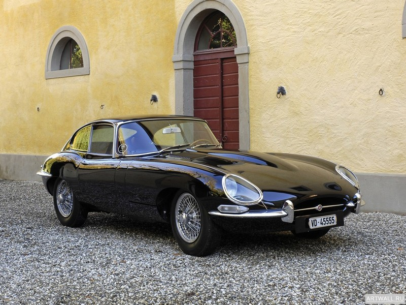 "Постер ""Jaguar E-Type Coupe (Series I) '1961-67 2"", 27x20 см, на бумаге от Artwall"