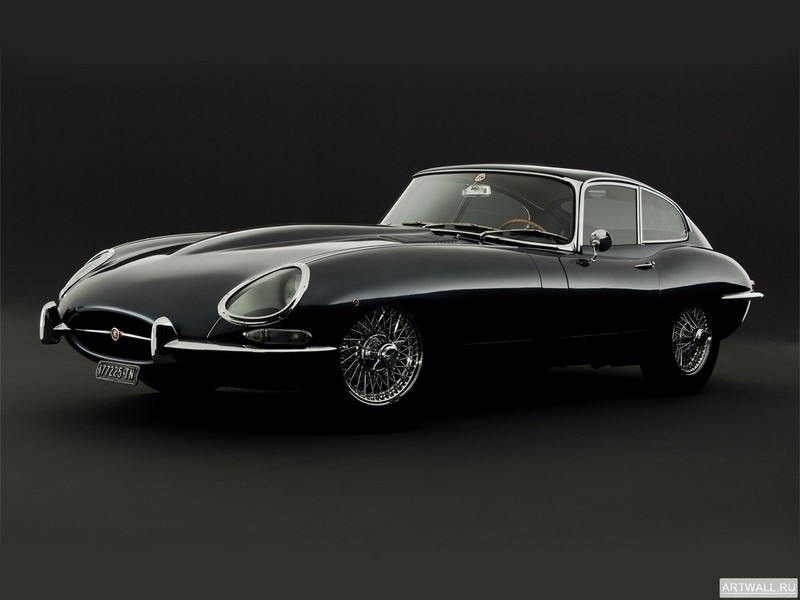"Постер ""Jaguar E-Type Coupe (Series I) '1961-67"", 27x20 см, на бумаге от Artwall"