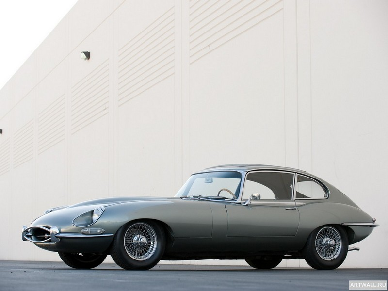 "Постер ""Jaguar E-Type Coupe (Series II) '1968-71"", 27x20 см, на бумаге от Artwall"